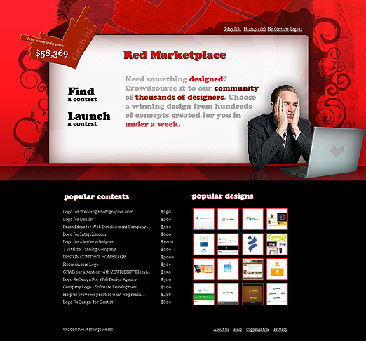 графична концепция за Red Marketplace